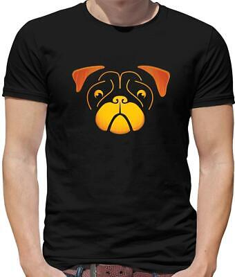 Carving Faces Pumpkins Halloween (Pug Face Pumpkin Carving Mens T-Shirt - Halloween - Dog - Dogs - Puppy -)