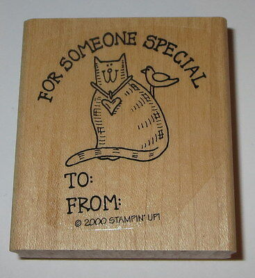 Cat For Someone Special To From Rubber Stamp Gift Tag New Stampin' Up! Bird