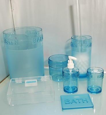 Set Accesorios Baño Bath Azul - 7Pz