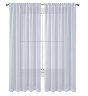 WPM Drape/Panels/Treatment Beautiful Sheer Window Elegance