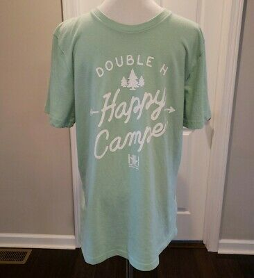 Abercrombie and Fitch mint green Happy Camper super soft tee shirt EUC •Size SM•