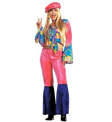 Hippie Woman 70er Jahre Deluxe - Alten 70er Jahre Kostüm