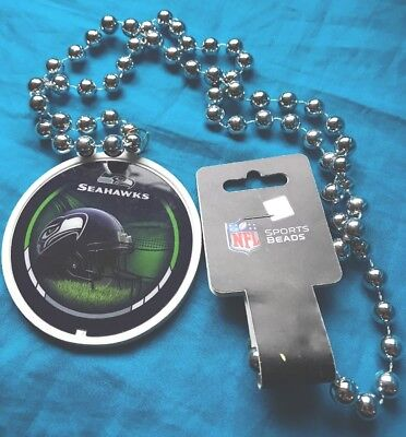 Seattle Seahawks Mardi Gras Party Sports Beads NFL Football  Necklace Go - Seahawks Party