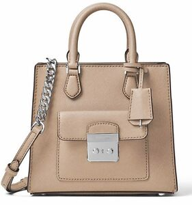 Michael-Kors-Tasche-Bag-BRIDGETTE-SM-NS-Messenger-SAFFIANO-Bisque-NEU