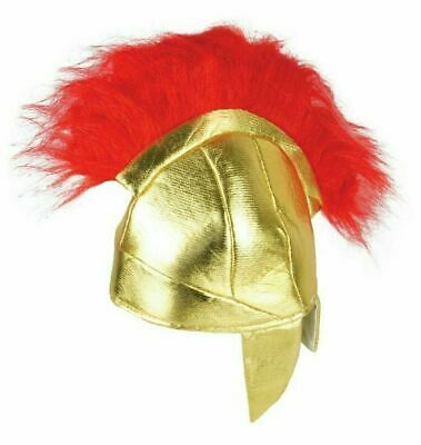ADULT ROMAN HELMET Mens Boys Gladiator Fancy Dress Red Hat Spartan Warrior - Roman Boy Kostüm