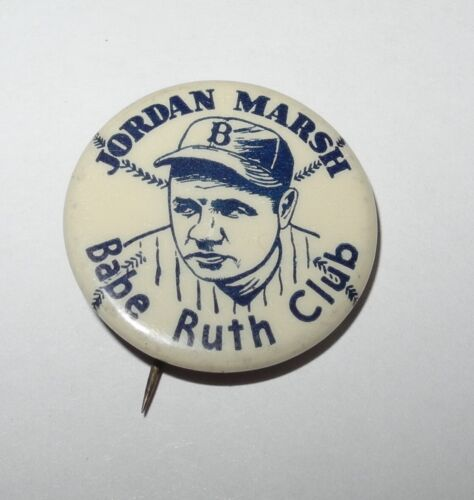 1935 BASEBALL BABE RUTH BOSTON BRAVES JORDAN MARSH PROMOTIONAL ADVERTISING PIN