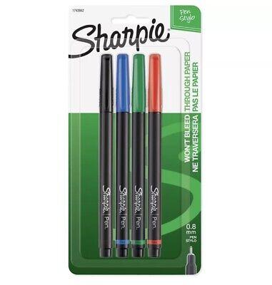 Sharpie Pen Fine Point Pen 4 Colored Pens 1742662 New