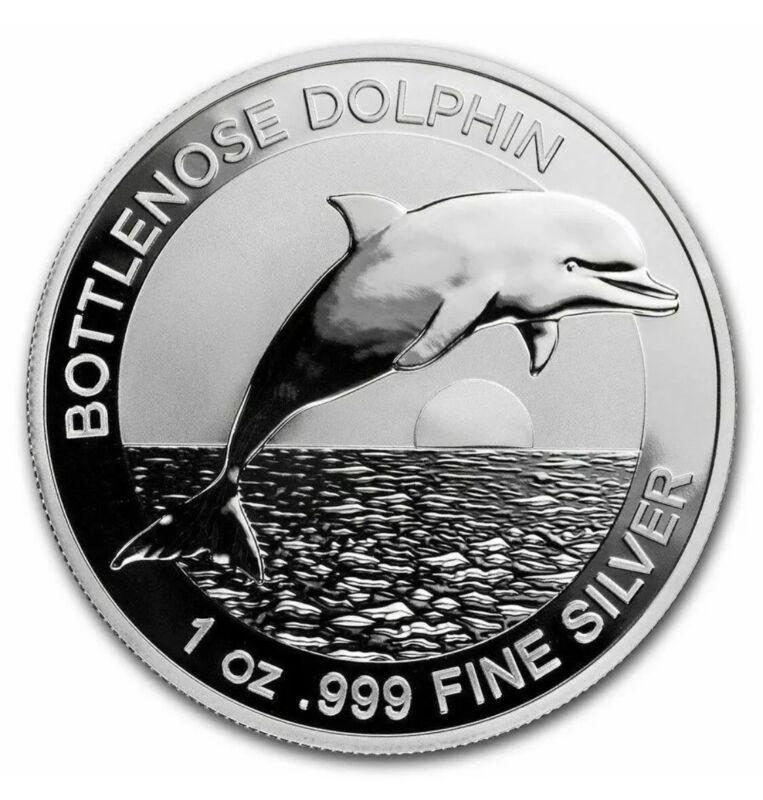 2019 Australia Bottlenose Dolphin 1 oz Silver Coin Mint Cap, Series 1st Spotless