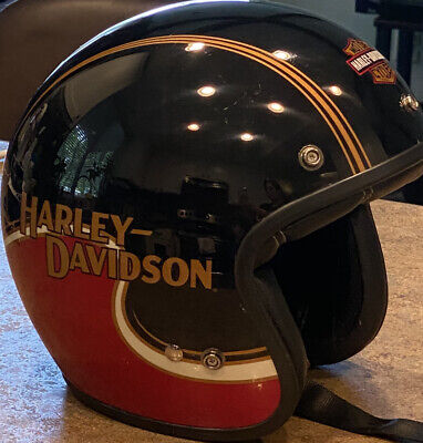 Harley Davidson Motorcycle 3/4 Helmet Open Face Size Small
