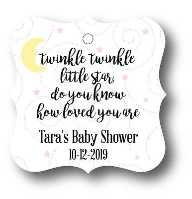 24 Twinkle Twinkle Little Star Girl Baby Shower Thank you! Favor Tag - Twinkle Little Star Baby Shower