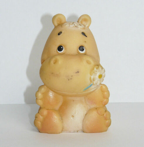 Vintage Original Soviet Russian Rubber Toy Doll Hippo USSR