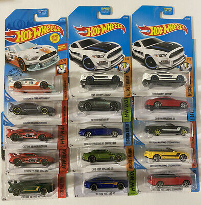 🔥Hot Wheels Lot of 15 Mustangs Diecast. New 🔥