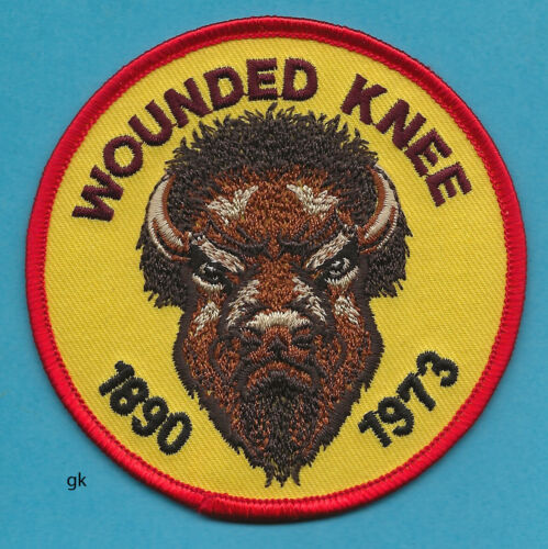 REMEMBER WOUNDED KNEE SHOULDER  PATCH  (Buffalo)