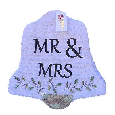 APINATA4U Mr & Mrs Wedding Bell Pinata