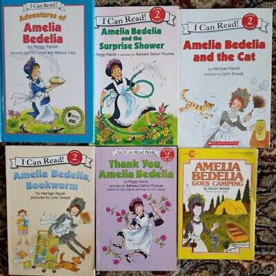 Lot 6 books  with 8  stories of Amelia Bedelia  I Can Read Level 2 -