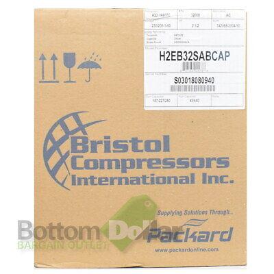 Bristol H2eb32sabcap 2-12 Hp 32000 Btu R22r407c Reciprocating Compressor