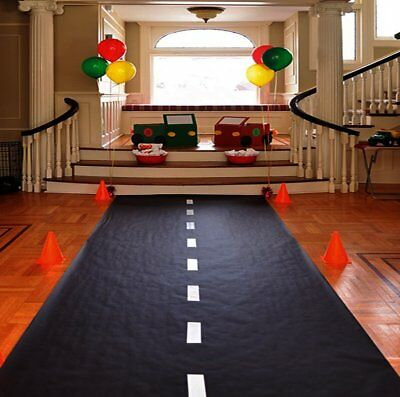 Race Car Theme Birthday Party Racetrack Floor Runner Decoration 10' x 2'](Car Theme Decorations)