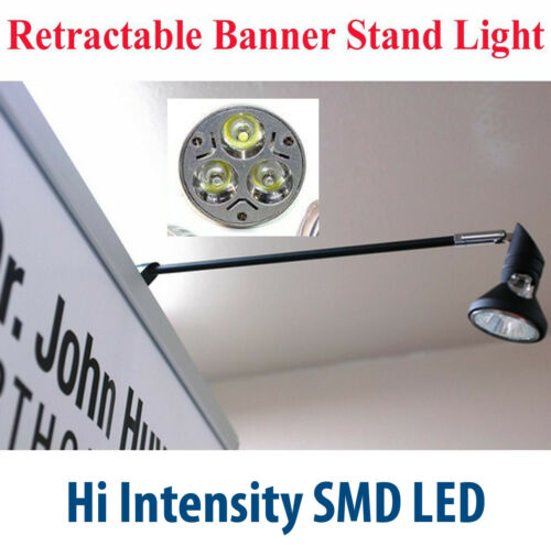 Hi Intensity LED Display Light Retractable Roll Up Banner Stand Lamp Trade Show