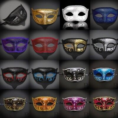 Classic Simple Mardi Gras Venetian Ball Masquerade Mask for Men M6107 ](Simple Masquerade Masks)