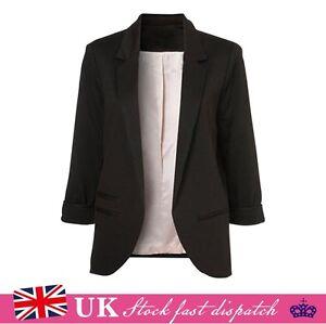 New Womens Ladies Candy Colors Stylish Suit Jacket Blazer Size 6 8 10 12 14