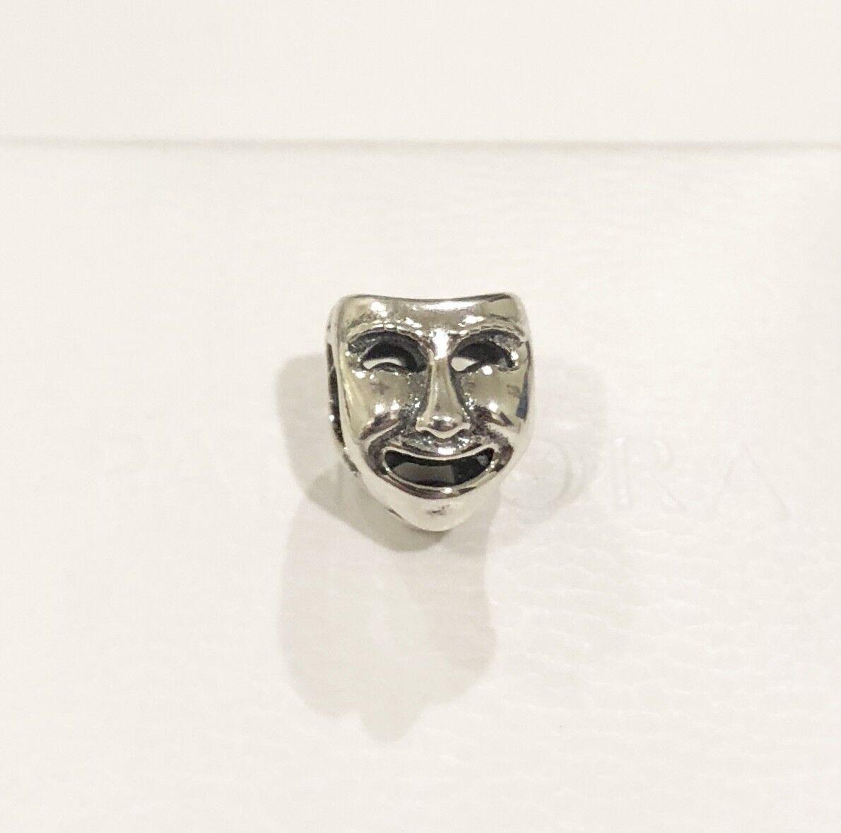 RETIRED ~ Pandora Theatre Mask, Opera, Bead Charm #791177 +G