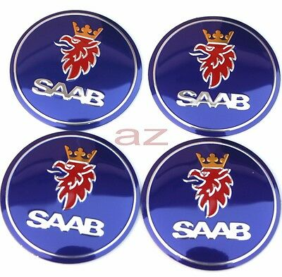 56mm Saab 9-3 9-5 9000 Wheel Center Hub Caps Emblem Badge Decal Symbol Sticker