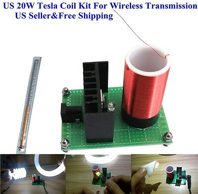 US 20W Tesla Coil Kit For Wireless Transmission experiment Science Project