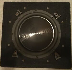 "Kenwood 12"" Subwoofer in sealed box."
