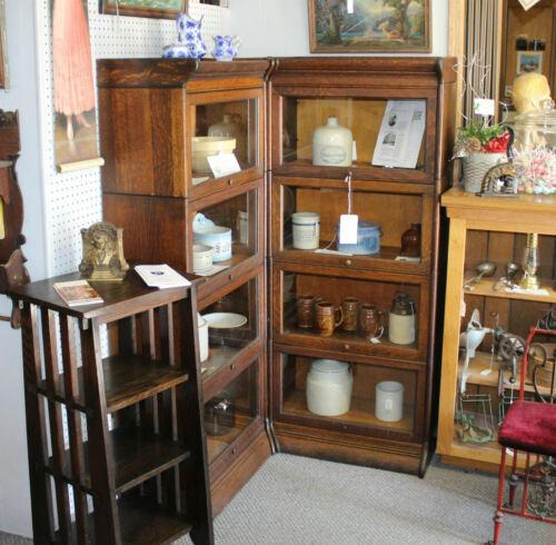 Antique Corner Oak Barrister Bookcase – Gunn Grand Rapids Michigan