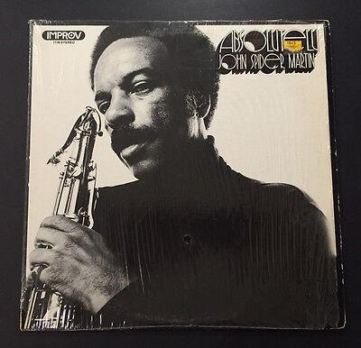 JOHN SPIDER MARTIN Absolutely Vinyl LP Improv Records 7118 Jazz Funk in Shrink