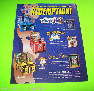 SIMPLE SIMON COIN CIRCUS + By SAMMY ORIGINAL REDEMPTION ARCADE GAMES SALES - Simple Carnival Games