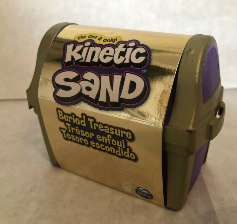 New! Kinetic Sand Burried Treasure With Surprise Purple Pirate Chest Case