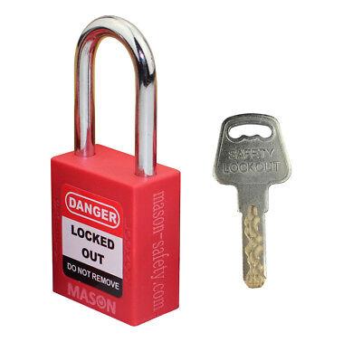 Mason Lockout Tagout Keyed Alike Safety Lockout Padlock Red