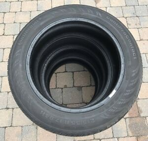 4 CONTINENTAL CONTIPRO CONTACT  215/55/17 RUNFLAT BMW