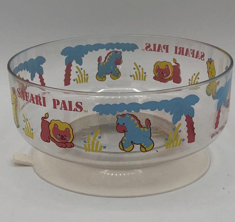 Vintage Gerber Baby Bowl Suction Cup Safari Pals 1992