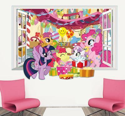 My little Pony Film XXL Wandtattoo Wandaufkleber Geburtstag Deko Mädchen Zimmer ()