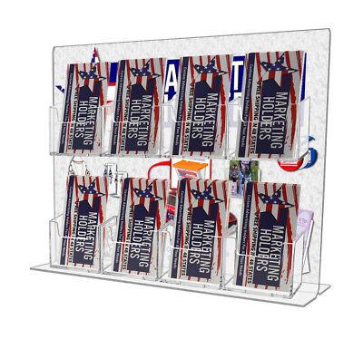 8 Pocket Vertical Business Card Holder Display Stand W Sign Holder