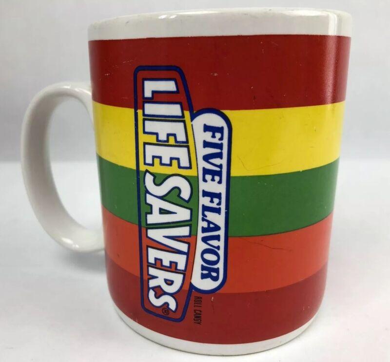 Lifesavers Mug Ceramic Coffee Cup Nabisco Candy Rainbow Vintage LGBTQIA Pride