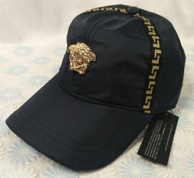 New Versace Logo Cap Baseball Golf Hat Blue Unisex