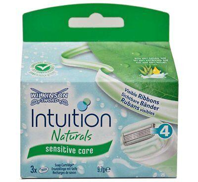 Wilkinson Sword Intuition Naturals Razor Blade Refills - Pack of 3