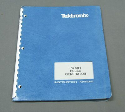 Tektronix Pg501 Op Service Manual W Schematics Pn 070-1361-01 Original Vgc