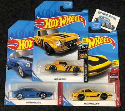 Lot of 3 - Hot Wheels - NISSAN - Fairlady Z & 2000 Yellow - C43