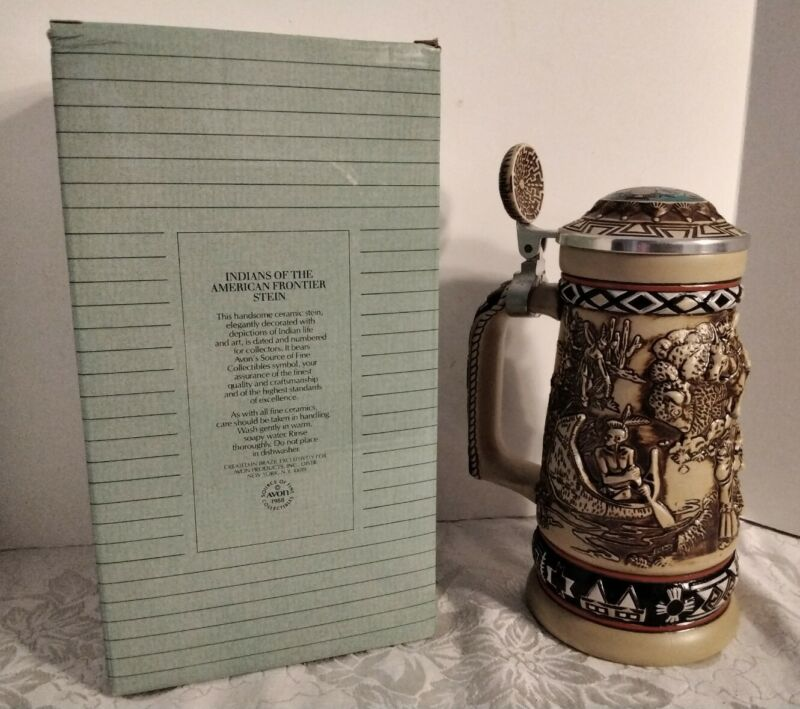 Avon Indians of the American Frontier Beer Stein Native American 1988 Brazil