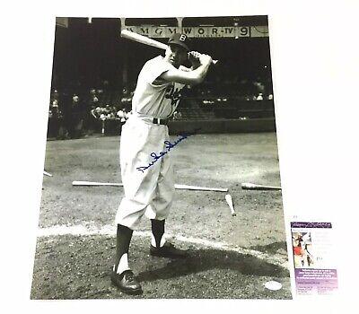 Duke Snider Signed 16x20 Photo Autographed  JSA COA Brooklyn Dodgers HOF Brooklyn Dodgers Autographed Photo