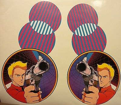 Atari Rolling Thunder Arcade Game Side art decal set