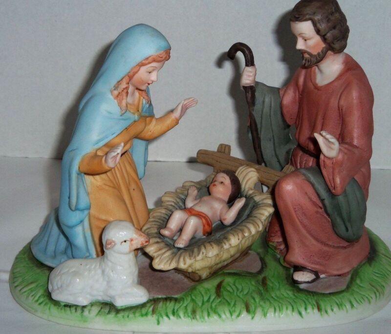 PARMA AAI CHRISTMAS NATIVITY PORCELAIN FIGURINE JESUS MARY JOSEPH TAIWAN VTG