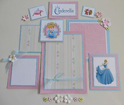 Premade Disney Scrapbook Page/Mat Set - Cinderella #19