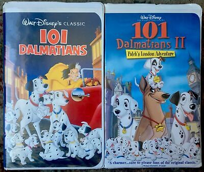 101 Dalmatians 1 & 2 Patch's London Adventure VHS Lot Of 2 (101 Dalmatians 2 Patchs London Adventure Vhs)