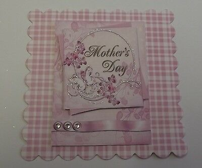 PACK 2 PINK MOTHERS DAY TOPPERS  FOR CARDS AND - Crafts For Mothers Day