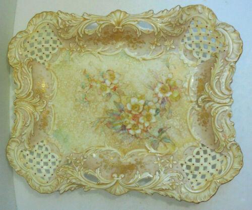 Antique Doulton Burslem Reticulated Platter / Tray Circa 1870-1880